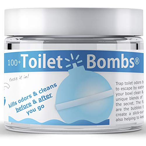 ToiletBomb® - for use 'Before You Go' to Prevent Toilet and Bathroom Odors - Better, Cheaper and Easier Than Toilet Sprays - 100 Tablets