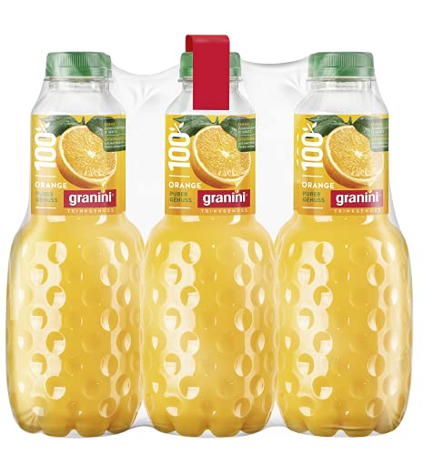 Granini Trinkgenuss Orange (100% Saft) PET, 6er Pack (6 x 1 l)