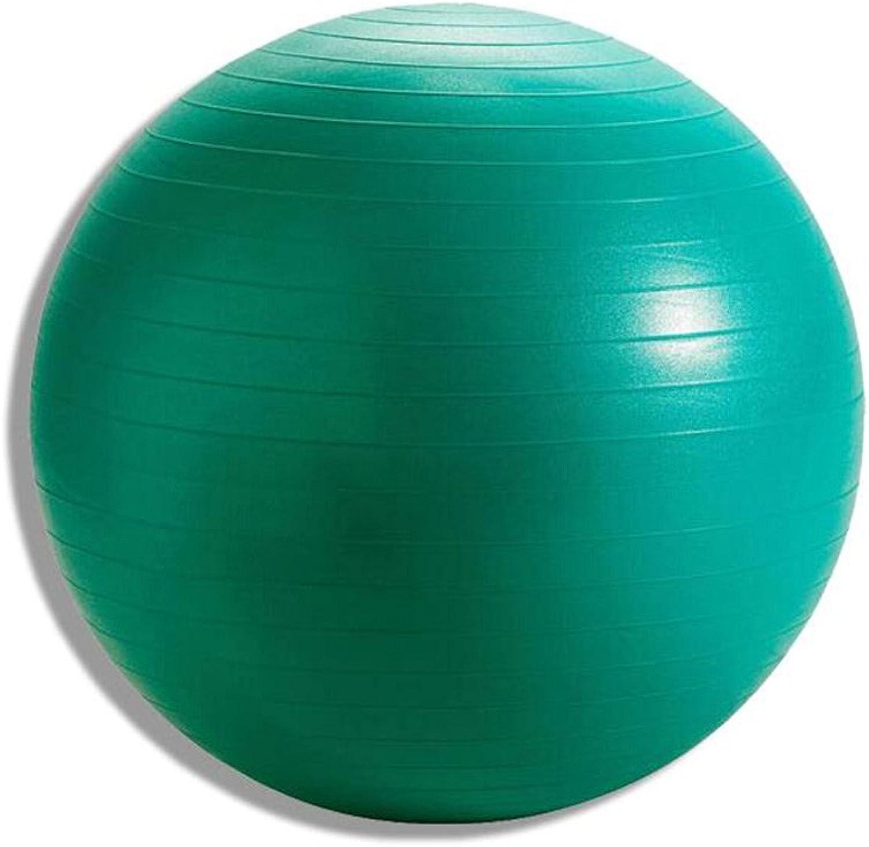 Yoga Ball ExplosionProof Thickening Massage Ball Fitness Yoga Ball Green Diameter 55cm