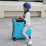L@LILI La Maleta para niños se Puede Usar para Montar la Carretilla El bebé con un bebé Puede Montar al niño Sentado en la Maleta Montando una Mujer, 59cmX25cmX58cm Maletas,D
