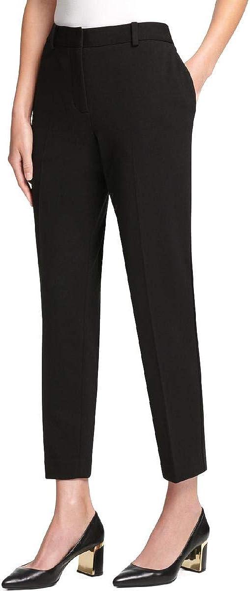 DKNY Womens Ponte Casual Trouser Pants, Black, 14