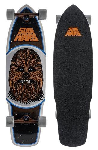 Santa Cruz Skateboard Longboard Star Wars Chewbacca, Brown, 10.0 x 35.0 Zoll