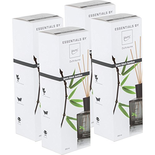 Essentials by Ipuro Black Bamboo 200ml Durfträume (4er Pack)