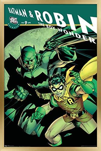 Trends International DC Comics - Batman and Robin The Boy Wonder Wall Poster, 14.725' x 22.375', Gold Framed Version