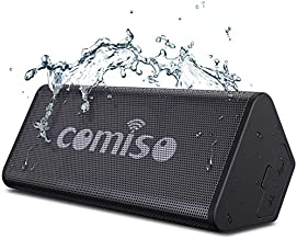 COMISO Bluetooth Speakers, IPX7 Waterproof Wireless Portable Speaker 10W Loud Crystal Clear Stereo Sound, 20 Hours Playtime Bluetooth 5.0 Built-in Mic for Call, Travel, Outdoor, Backyard
