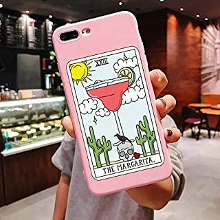 RTYW Art pizza coffee Pink silicone Phone Case For iP X 6 6s Plus 7 8 Plus XS MAX XR 11 Pro Max SE 5 5s TPU Cover (Color : Ivory, Material : For iPhone 8Plus)