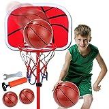MYYINGELE Kids Basketball Back Board Stand Hoop Sport Basketball 63-200cm Altura Baloncesto Hoop Set Juego de Interior y Exterior para niños, Juego Familiar