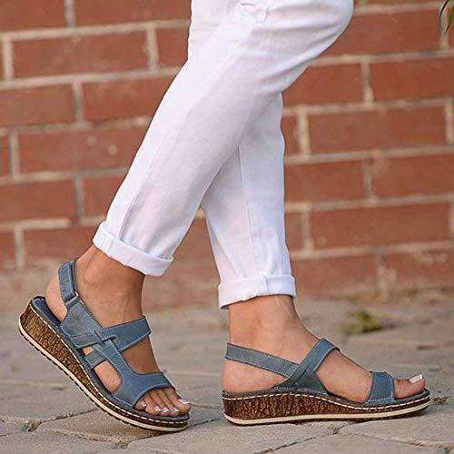 SOFIALXC Sandalias cómodas para Caminar con Soporte de Arco para Mujer Impermeable para Caminar/Senderismo/Viajes/Boda/Mancha de Agua/Playa
