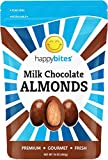 Happy Bites Milk Chocolate Covered Almonds - Pure Milk Chocolate - Resealable Pouch Bag (1 Pound)