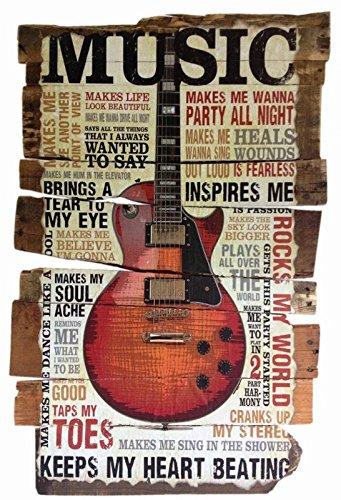 Schatzmix metalen bord muziek Keeps my Heart Beating gitaar metalen bord wanddecoratie 20x30 tin sign