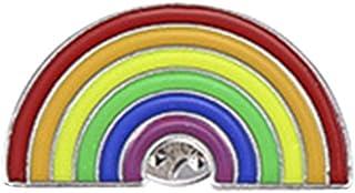 FENICAL Unisex en Forma de U Arco Iris Puente Gota Aceite Broche joyería Solapa Pin Broche Cuello Bufanda Broche para Muje...