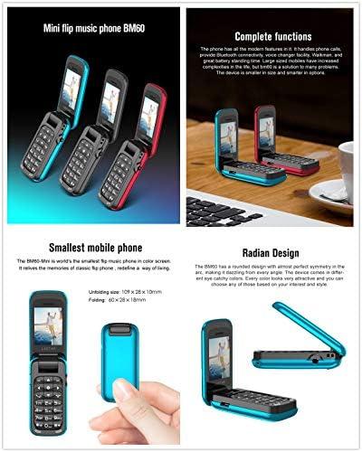 L8star BM60 Mini Flip Music Phone Bluetooth Dial Mobile Phone FM Radio Magic Voice Changer 3.5 Earphone Jack Mp3 Music Player (Black) WeeklyReviewer