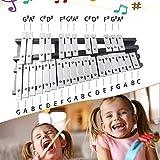 Volwco Xylophone en Bois 30 Notes, Glockenspiel Professionnel Instrument de...