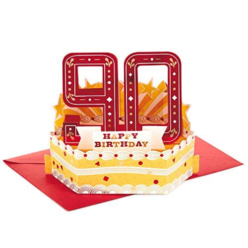 Hallmark Paper Wonder - Tarjeta de felicitación de 90 cumpleaños (texto en inglés)