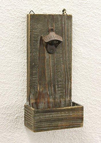 DanDiBo Wandfaschenöffner mit Auffangbehälter 5094 Bieröffner 32 cm Flaschenöffner Wand