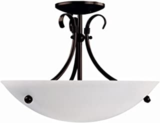 DVI DVP3213MO 3 Georgian Semi Flush Ceiling Light, See Image