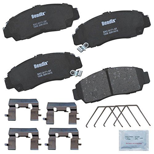 Bendix Premium Copper Free CFC1506 Ceramic Brake Pad (with Installation Hardware Front)