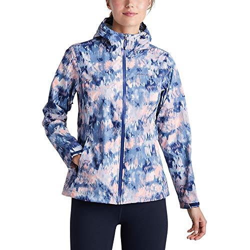 Eddie Bauer Women's Cloud Cap Rain Jacket, Dusted Indigo X-Small