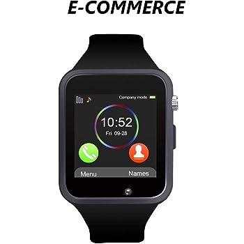 A1 Bluetooth Smart Watch Reloj Smart Phone soporte mapa GSM SIM para Android Samsung S5 S6 Note 4 Note 5, HTC Sony LG y iPhone, 6 6 S más Smartphone: Amazon.es: Electrónica