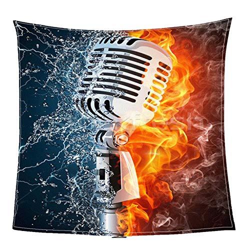 Pmhhc microfoon digitale print koraal flanel deken bed bank picknick baby flanel kleine deken