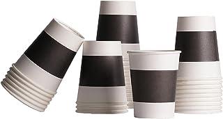 CIEFFE 100 Gobelet Cafe En Carton - Biodegradable Eco Cup 118 Ml - Tasse A Cafe Expresso (Noire)