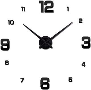 Frameless DIY Wall Clock, Mirror Surface Modern Design Decorative Wall Watches, Decor Sticker DIY Clock, for Office, Livin...
