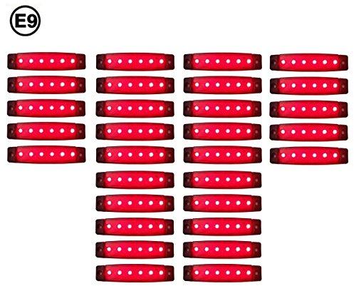 A1 30 x LED 24V ROT BEGRENZUNGSLEUCHTE POSITIONSLEUCHTE SEITENMARKIERUNGSLEUCHTE LKW