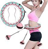Hula Hoops de aro con peso para adultos con cuenta inteligente desmontable y no se caerá, adecuado para bajar de peso, quemar grasa y principiantes