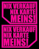 HR-WERBEDESIGN 2X NIX NIX Karte MEINS! autoscheibe Aufkleber Auto JDM OEM Tuning Expor2