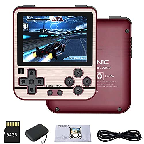 Handheld Video Game Console, Open Source System 64G Retro Game Console with 15000 Classic Games,Support PS1, CPS3, FBA, GBA, GBC, GB, SFC, FC, MD, SMS, etc