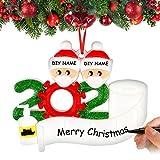 Airabc Decorazioni per Albero di Natale Sopravvissuto Famiglia 2020 Ornamenti Natalizi Decorazioni per Le Vacanze di Natale, Decorazione per la casa, Personalizzate Regalo di Natale,Family-2
