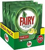 Fairy Original Todo en Uno Pastillas para lavavajillas, detergente, limón –...