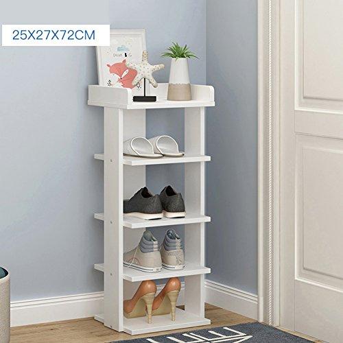 WENZHE Étagères À Chaussures Support Meubles Shoebox Multifonction Mini Modèles Woody Porte, 4 Couleurs, 5 Tailles (Couleur : Blanc, taille : 25 * 27 * 72cm)