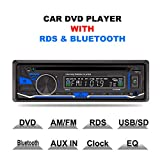 LSLYA(TM) 1 DIN 12V Car Stereo DVD/CD/Bluetooth Player Radio...