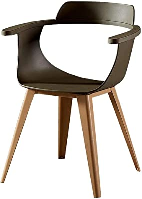 Plastic Chair Nordic Office Back Chair Home Creative Dining Table Chair Cafe Leisure Negotiation Chair,Brown