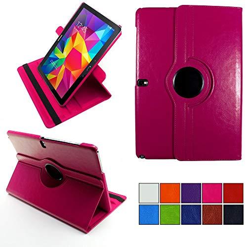 COOVY® 2.0 Cover für Samsung Galaxy Note PRO 12.2 SM-P900 SM-P901 SM-P905 Rotation 360° Smart Hülle Tasche Etui Hülle Schutz Ständer | hotpink