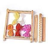 Tejer telares Kits de madera Tapiz hecho a mano Máquina de punto DIY Artesanía Set Tejido Lana Hilados Máquina de tejer Hilos Peine Shuttle