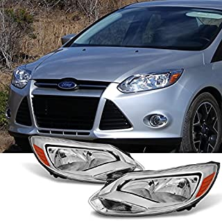 For 2012-2014 Ford Focus Left Driver + Right Passenger Replacement Head Lights Front Lamps Assembly Pair