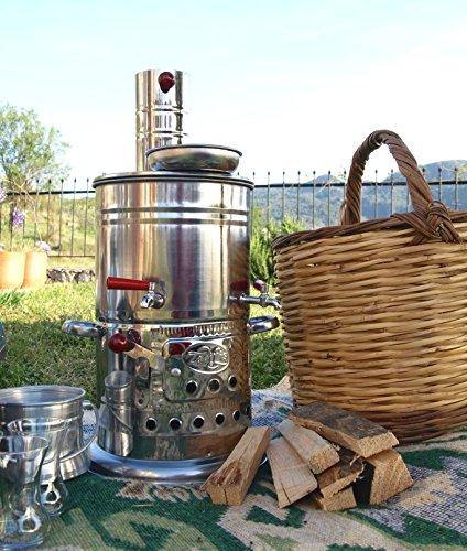 Traditioneller, türkischer Samowar (Çay Soba):Mobiler Holzofen für Camping, Wandern, Picknicks, Festivals, Schrebergärten und Gärten