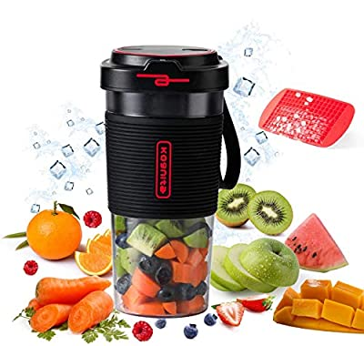 Personal Blender for Shakes and Smoothies - 17oz Cordless Portable Blender,60W Small Single Serve Blender,Travel Mini Size Blender Juicer with USB Rechargeable from