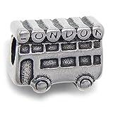 GemStorm Stainless Steel London Bus Charm Bead Fits Pandora Bracelet for European Snake Chain Bracelets