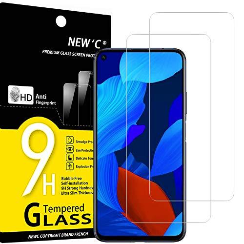 NEW'C 2 Stück, Schutzfolie Panzerglas für Huawei nova 5T, Frei von Kratzern, 9H Härte, HD Displayschutzfolie, 0.33mm Ultra-klar, Ultrabeständig