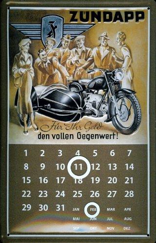 Blechschild Zündapp Motorrad Moped Magnetkalender Nostalgieschild