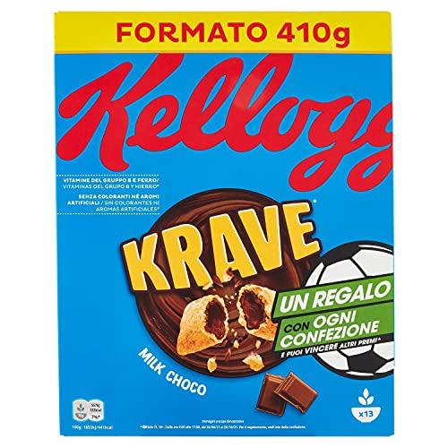 Kellogg's Choco Krave Cerali, Cioccolato al Latte, 410g