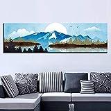 zgwxp77 Home Decor Bild Schnee Berg Leinwand Landschaft Poster Gemälde, a, 30x105cm