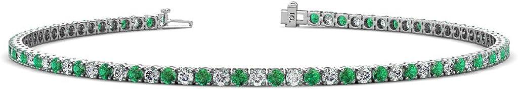 TriJewels Emerald Lab Grown Diamond Womens G-H Max 85% OFF Etern High quality new VS2-SI1