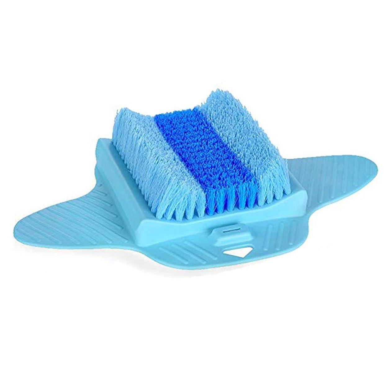 ハプニング滞在フックスパマッサージフットスクラブブラシ、お手入れが簡単、乾燥した角質の肌を除去、ブルー