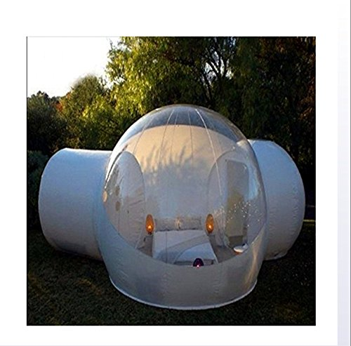 Outdoor-Tunnel Hinterhof Durchsichtige Luft Kuppelzelt, Single Aufblasbare Bubble Zelthaus Home Camping Mit Gebläsen Und Reparatur Ausrüstung,A,2 * 3M