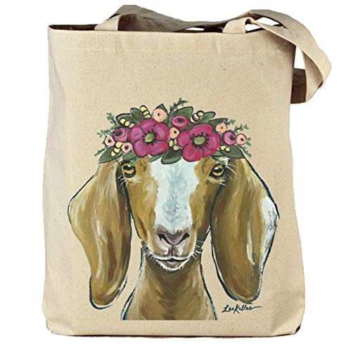 Goat Tote Bag, Madge' Heavy Canvas Goat Tote, Goat Lover Gifts, Goat Gifts Michigan