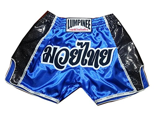 Lumpinee Muay Thai Boxen Sport Shorts Blau Trunks Größe XXXL